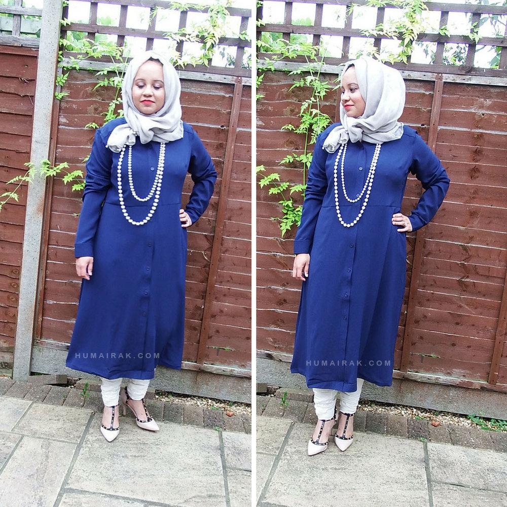 Simply Be Blue Midi Shirt Dress  Humairak.com