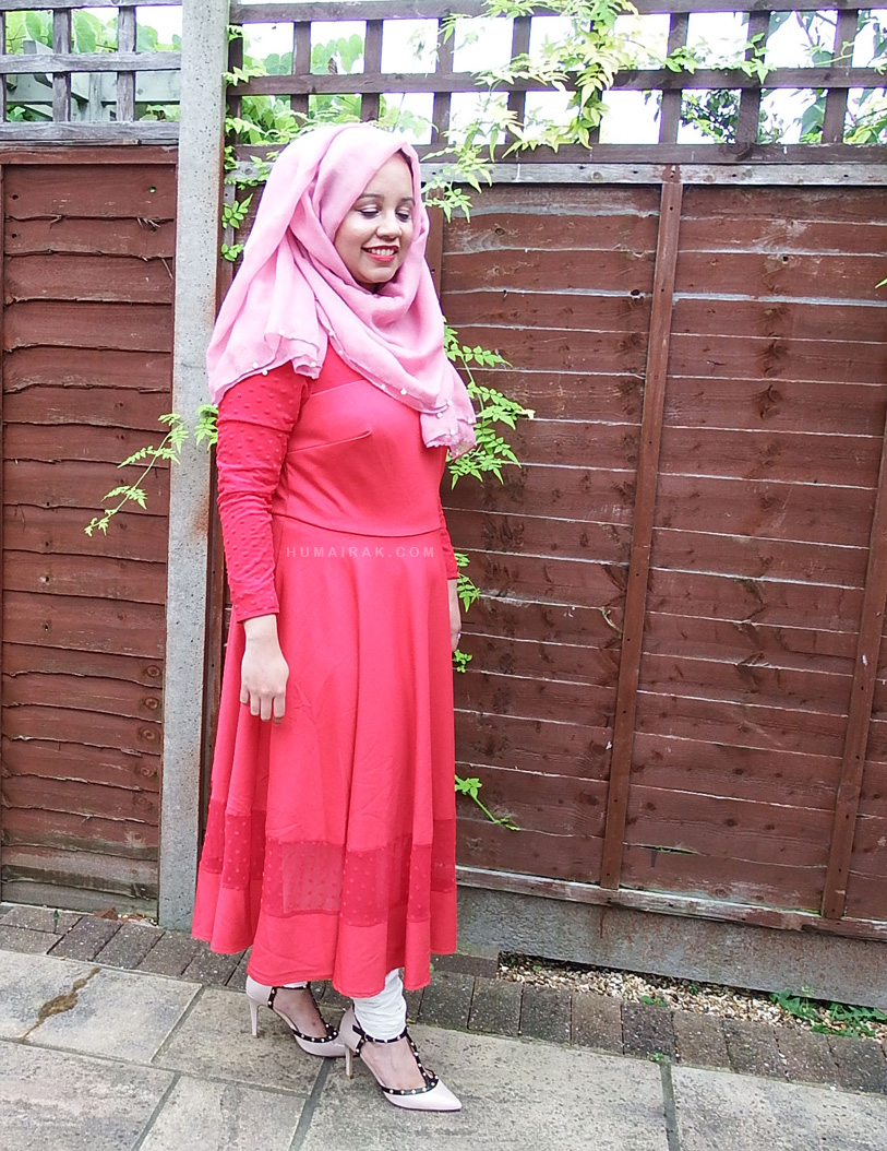 Simply Be Red Jamila Jamil Pointe Dress | Humairak.com