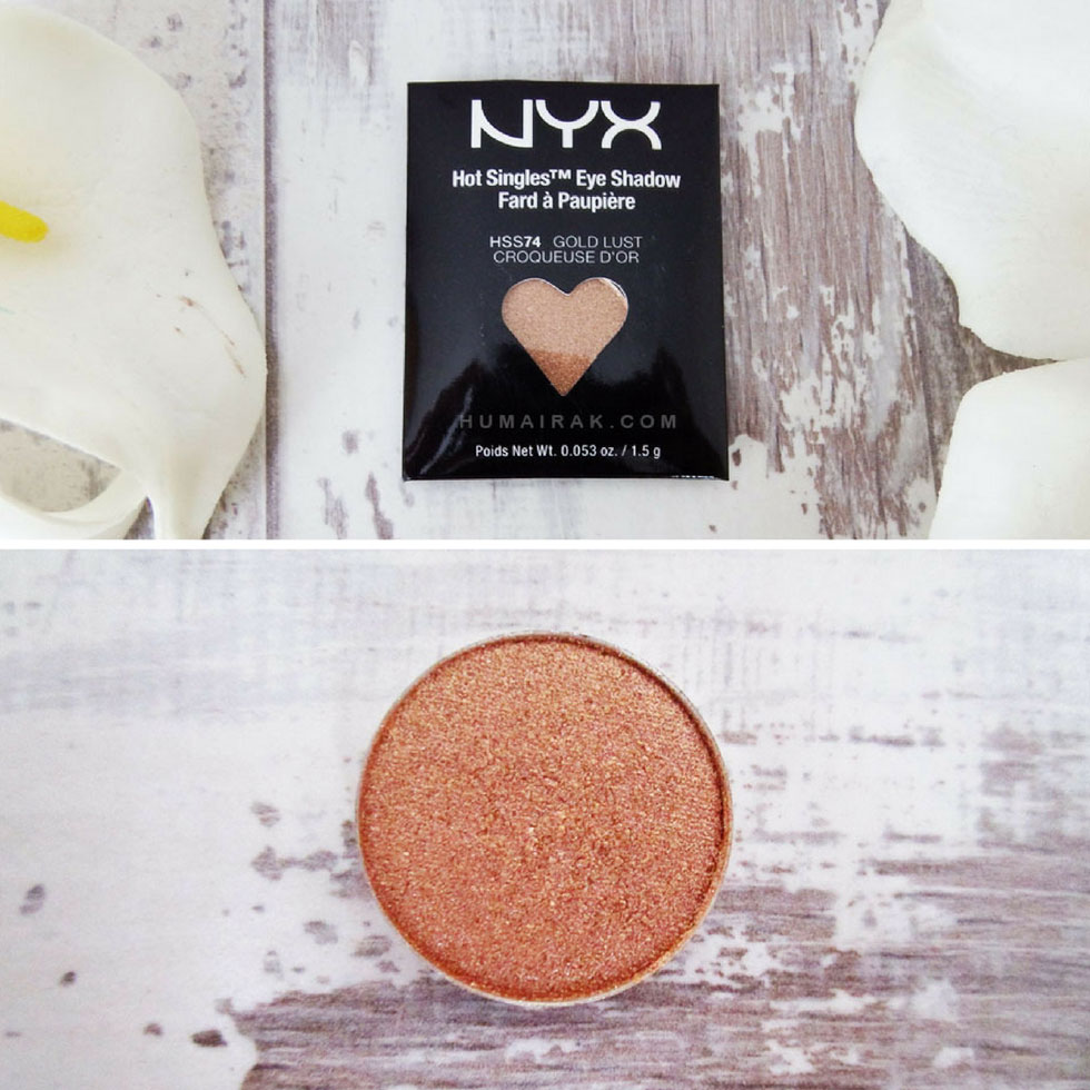 NYX Hot Single Eyeshadows in Gold Lust - Humairak.com Instagram.jpg