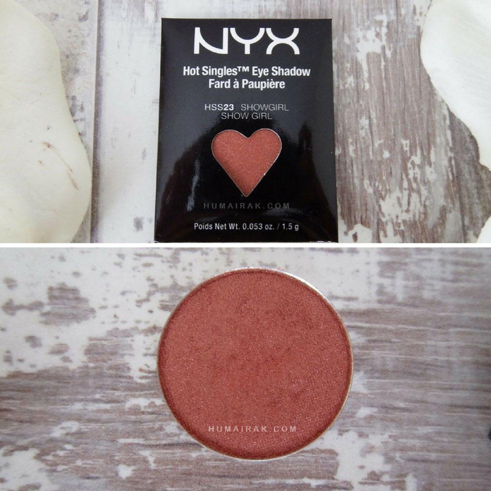 NYX Hot Singles Eyeshadow in Showgirl