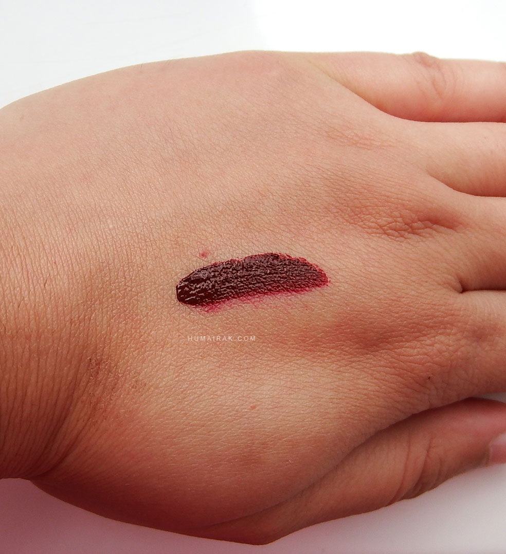 Gerard Cosmetics Hydra Matte Liquid Lipstick swatch for Ruby Slipper.jpg
