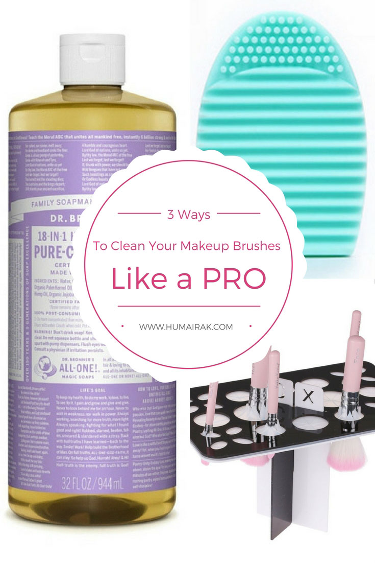 Cleaning your brushes is one of those chores we all hate. So, how do the pros clean all those makeup brushes on a daily basis and not lose their mind? Here's my tips for makeup enthusiasts and pros to keep your makeup brushes clean. | Humairak.com
