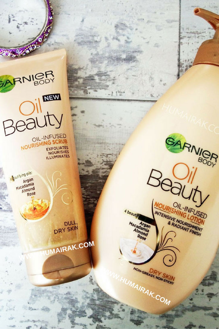 Garnier Body Oil Beauty Extra Dry Restoring Lotion & Dry Skin Nourishing Scrub Review