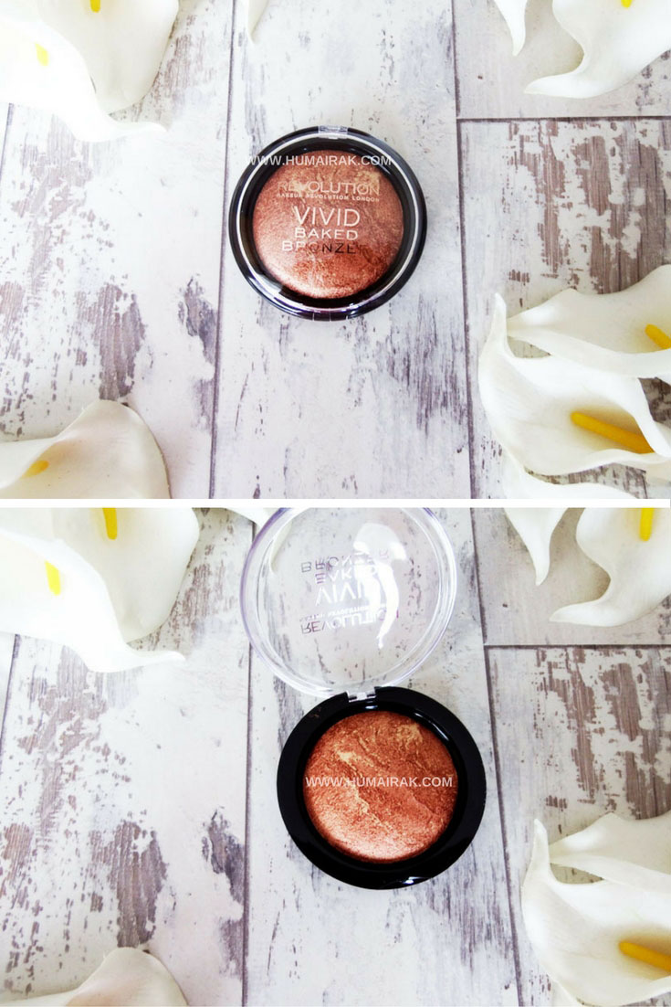 Makeup Revolution Baked Bronzer review. This is a great dupe for MAC's bronzer, but at a more affordable price. | Humairak.com