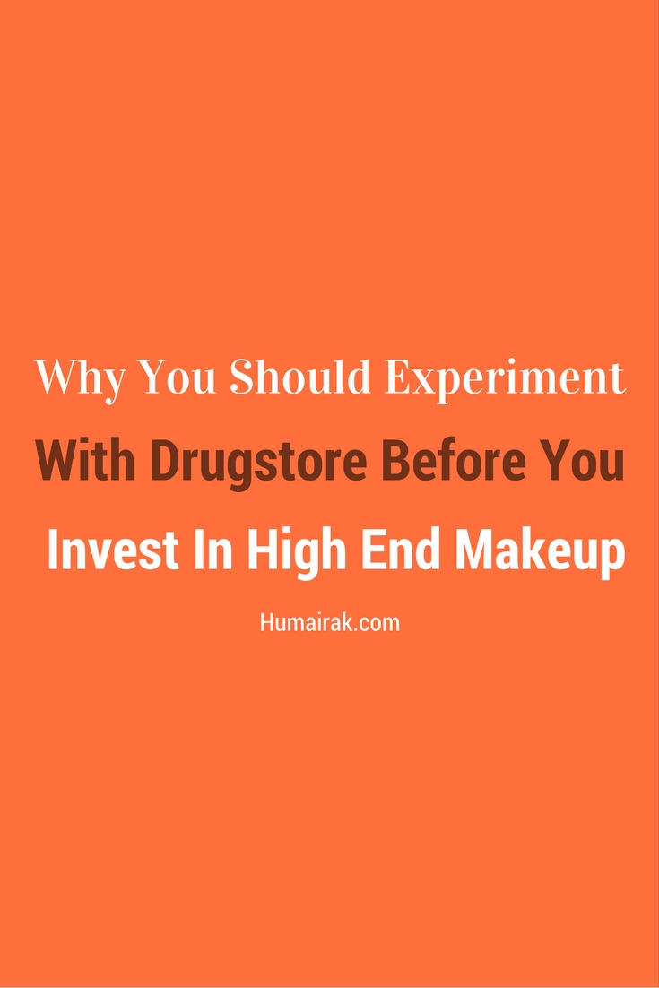 If you're just starting out as a makeup artist here's Why You Should Experiment With Drugstore Before You Invest In High-End Makeup.    Humairak.com