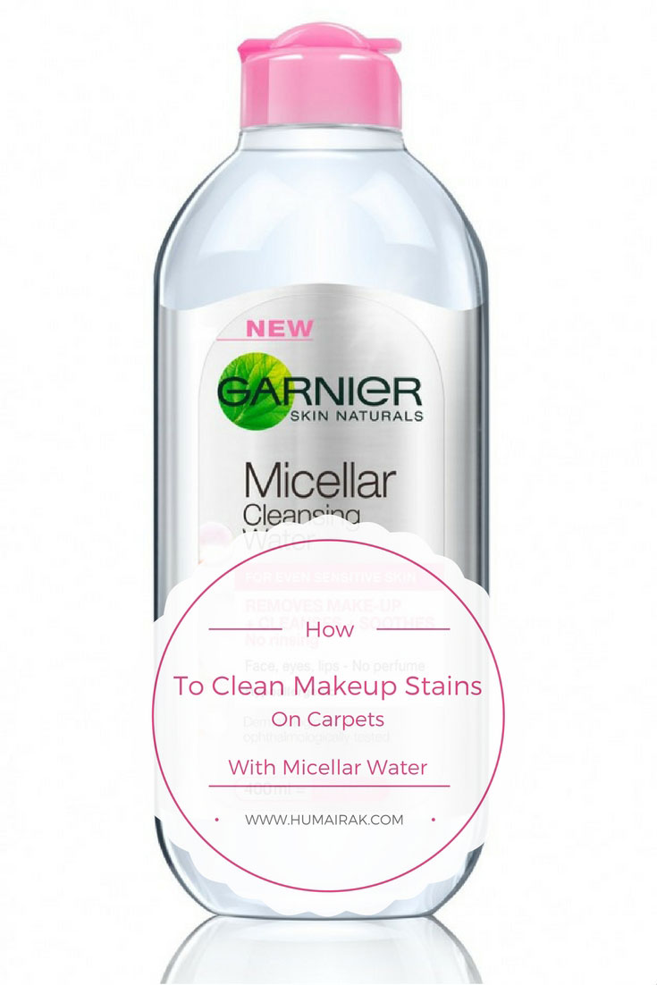 How To Clean Makeup Stains On Carpets With Micellar Water. We all know Micellar water is a miracle product, but did you ever think that it could save your carpets when you or more likely your children get a little too enthusiastic when playing with makeup?   Humairak.com