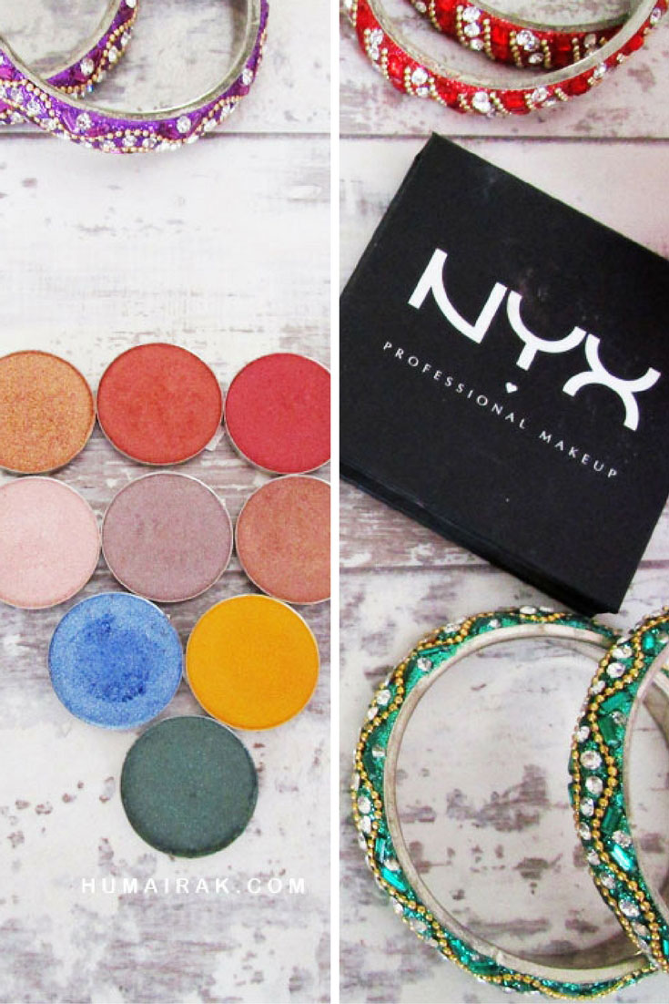 NYX Hot Singles Eyeshadows Review with swatches and why they're not worth the investment. Read the review to find out why.   Humairak.com