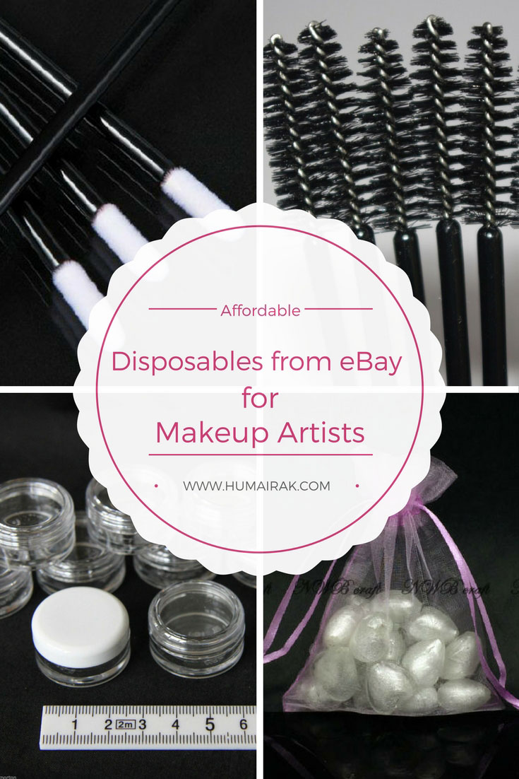 How to find disposable spoolies, mascara wands, lip gloss wands and jars which are essential for Professional Makeup Artists on eBay | Humairak.com