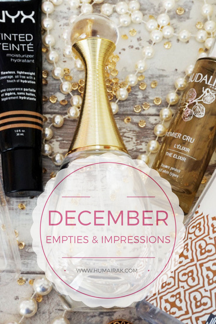 December Empties & Impressions