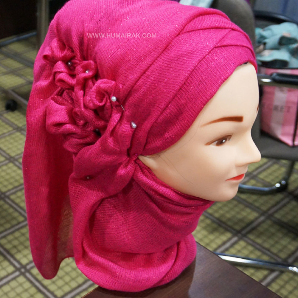 Ruched Hijab Style | Humairak.com