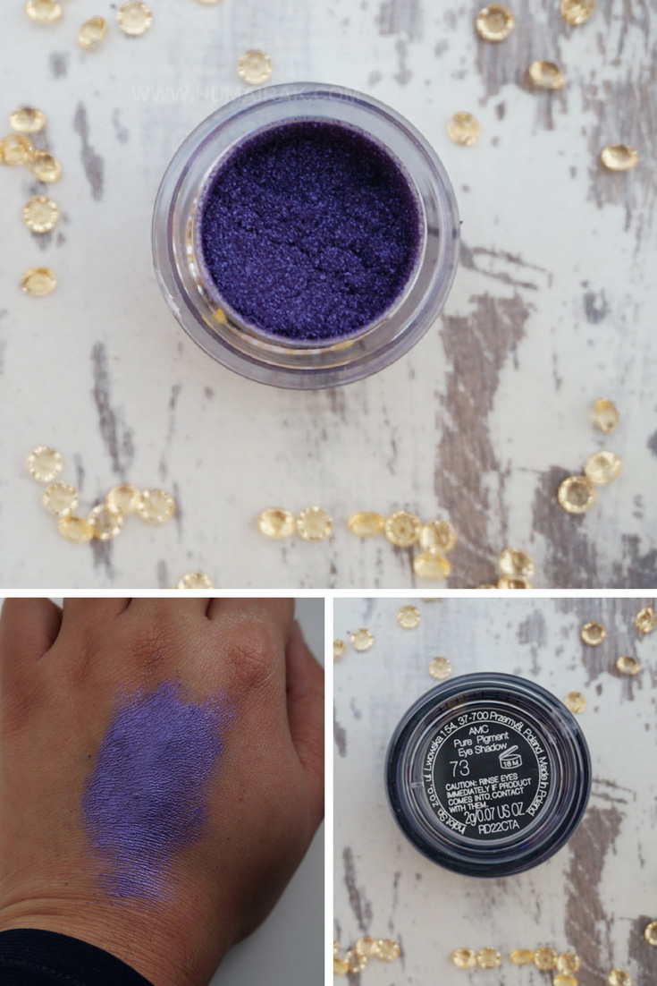 Inglot AMC Pure Pigment Eyeshadow in 73. Swatches and reviews on Humairak.com