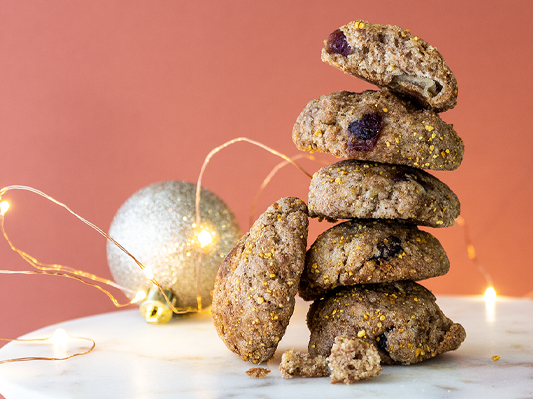 Banting Biscuits - WITH ORANGE ZEST + NUTS