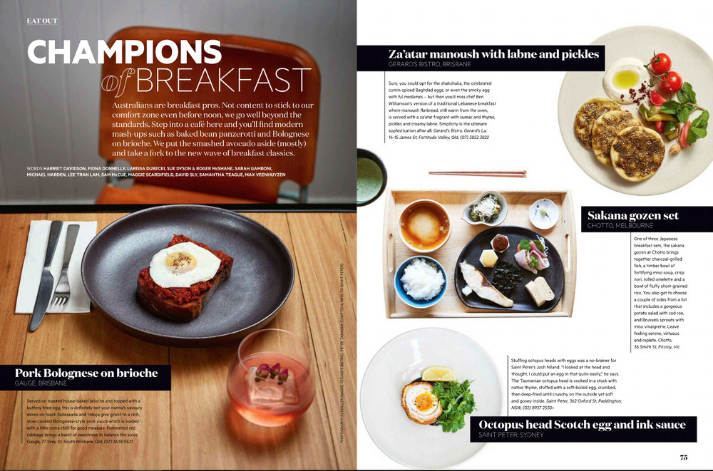 Champions of Breakfast [Australian Gourmet Traveller, June 2017]