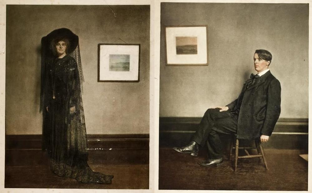 Photochrom of Maud Gonne and W.B Yeats, National Library of Ireland