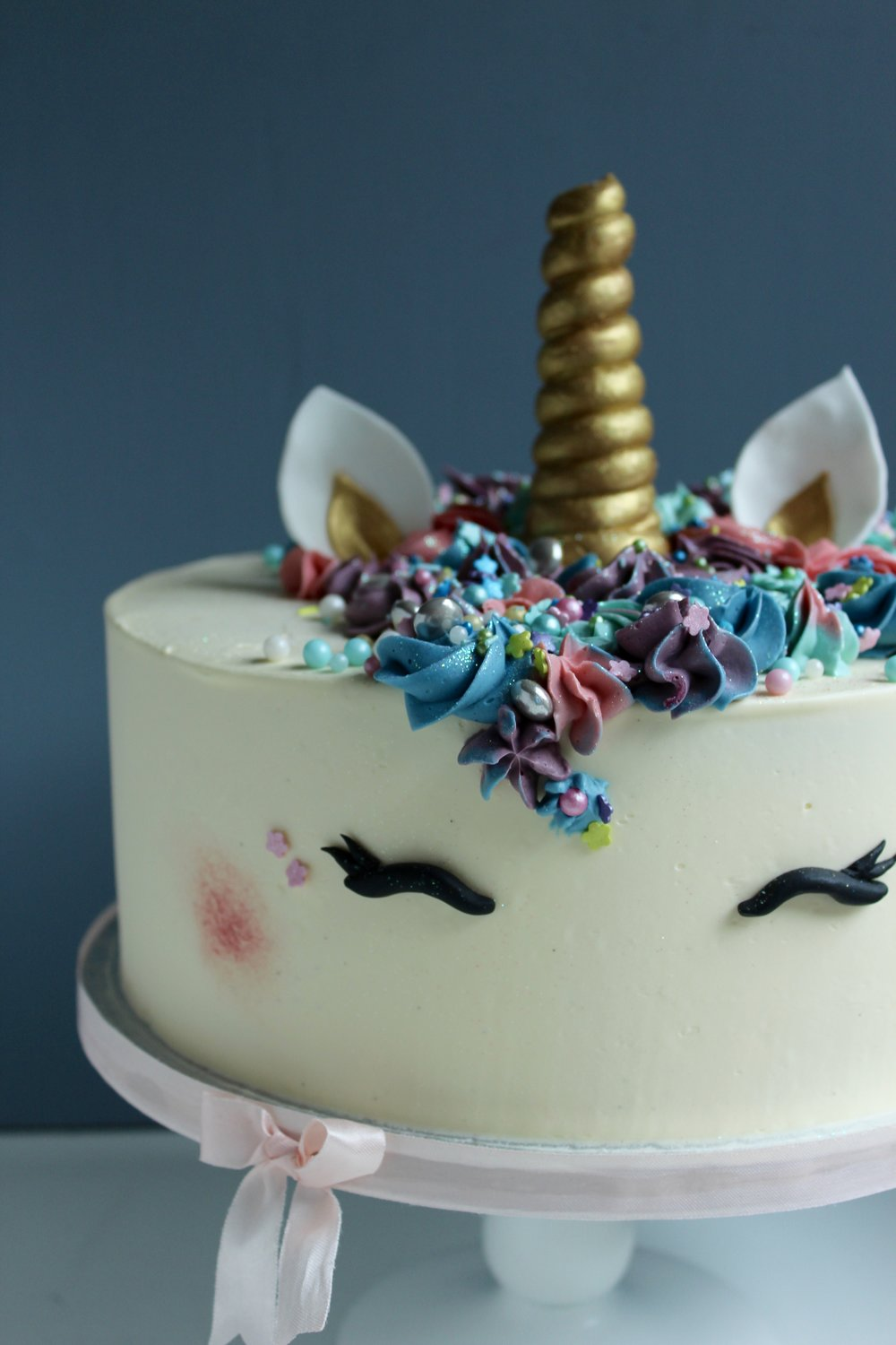 Unicorn Celebration Cake by Yolk. www.cakesbyyolk.com