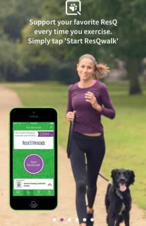 DOWNLOAD THE APP ON YOUR MOBILE PHONE, ALLOW IT TO ACCESS YOUR LOCATION, AND THEN START WALKING!