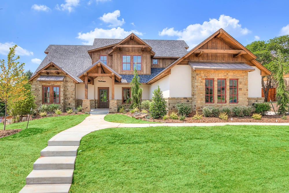 New homes in okc edmond custom home builders for Craftsman style homes in okc