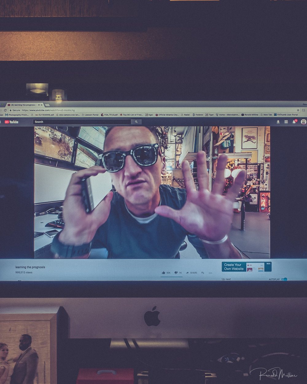 Casey Neistat is a Daily Vlogger on YouTube, He's actually pretty well known now for his Vlogs.