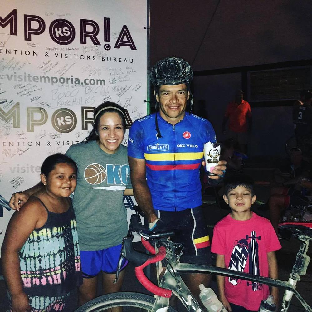 Jose crushed the Dirty Kanza this year improving his time 1 hr and 40 minutes over last year.