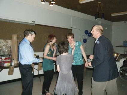 At the Community Living Selkirk social a few years ago.