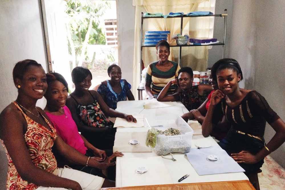 Michel Ange and her Atizan Lakay team in Grand Praix, Haiti