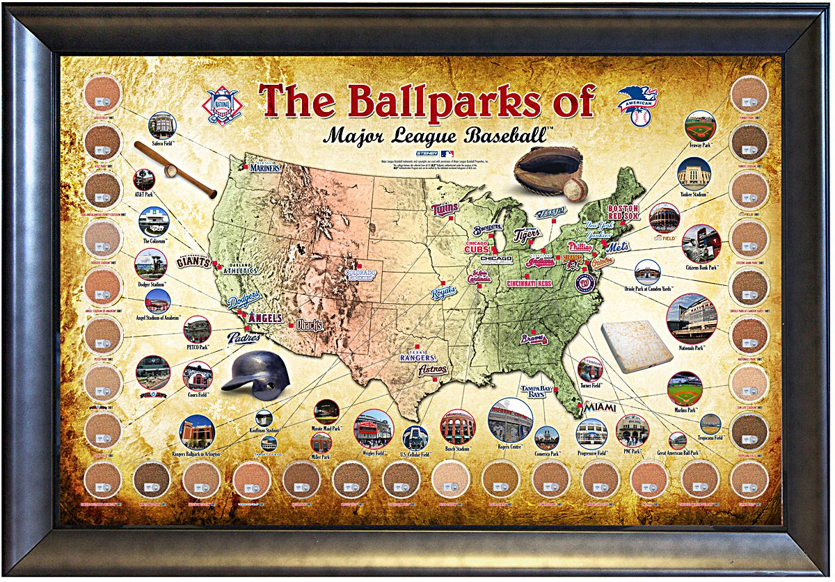 Match The MLB Ballpark To Its Signature Feature NewsUp - Us baseball map