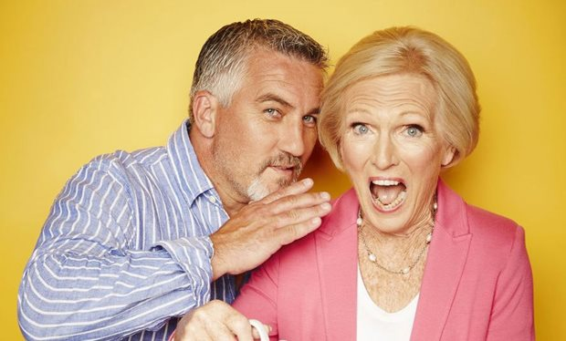 Celebrity bakers and Bake Off judges Paul Hollywood and Mary Berry, courtesy of Radio Times
