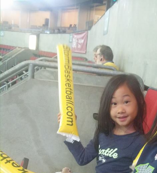 Alena's First Seattle Storm Game.