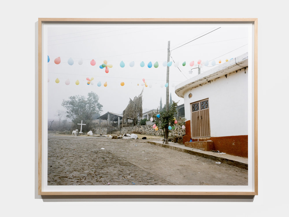 Exhibition view from Afterparty series. Christmas, Jalisco, Mexico.