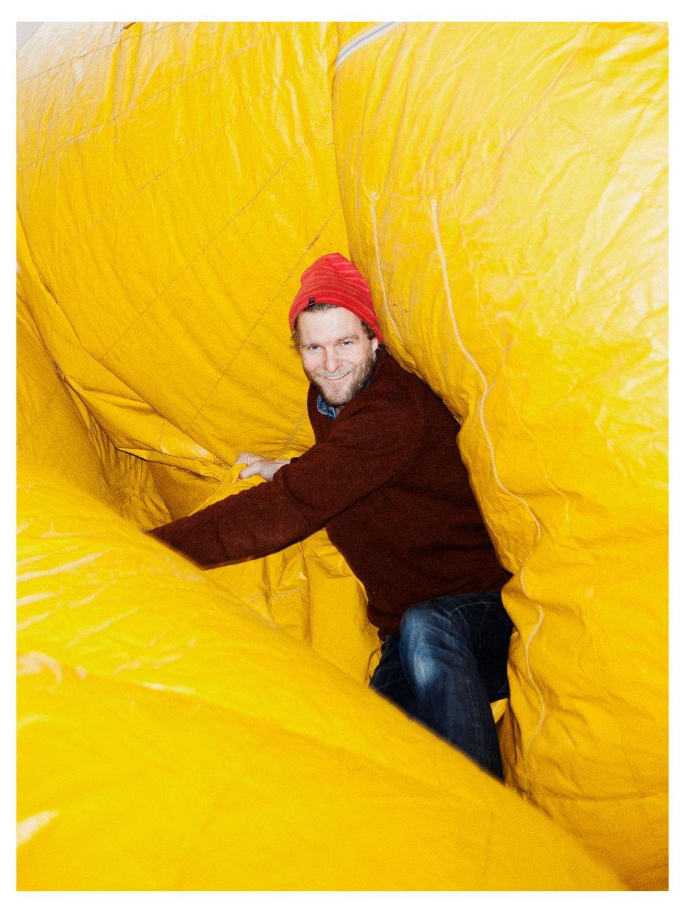 Portrait of Dutch artist Florentijn Hofman for Bloomberg Businessweek (US).