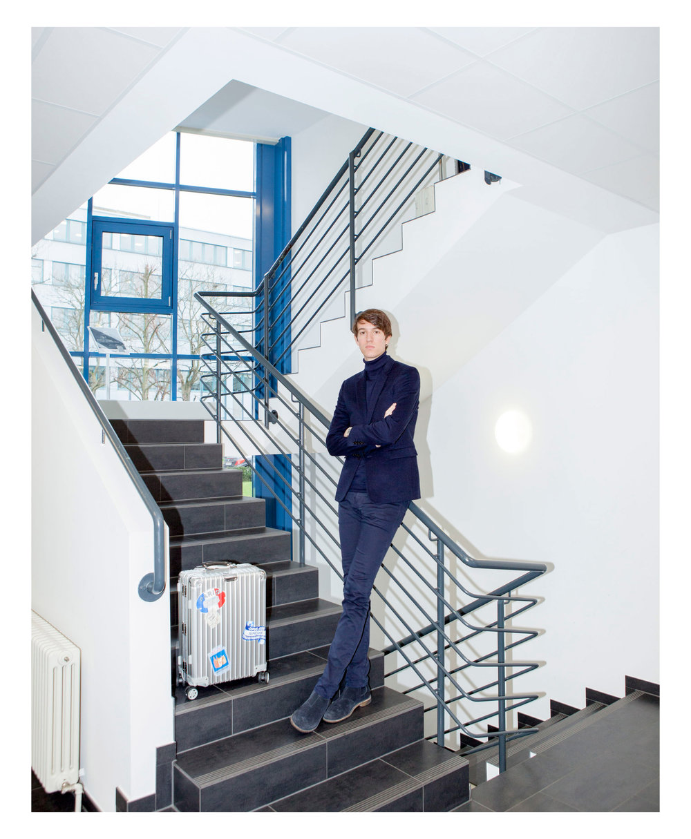 CEO of Rimowa Alexandre Arnault for Monocle Magazine.