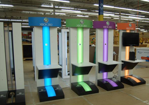 Microsoft- XBOX gaming kiosks