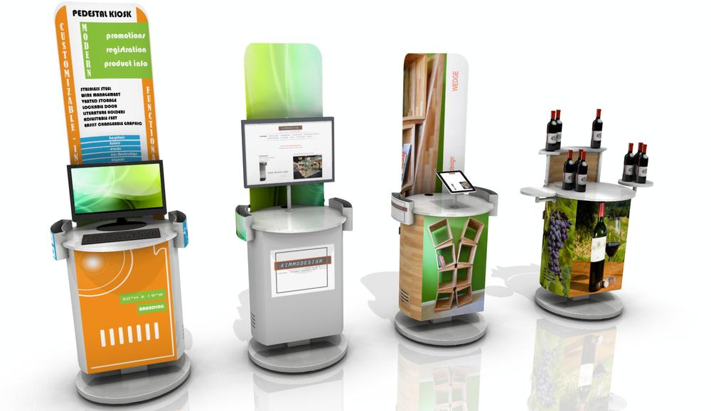 Retail Pedestal Kiosk by kimmodesign