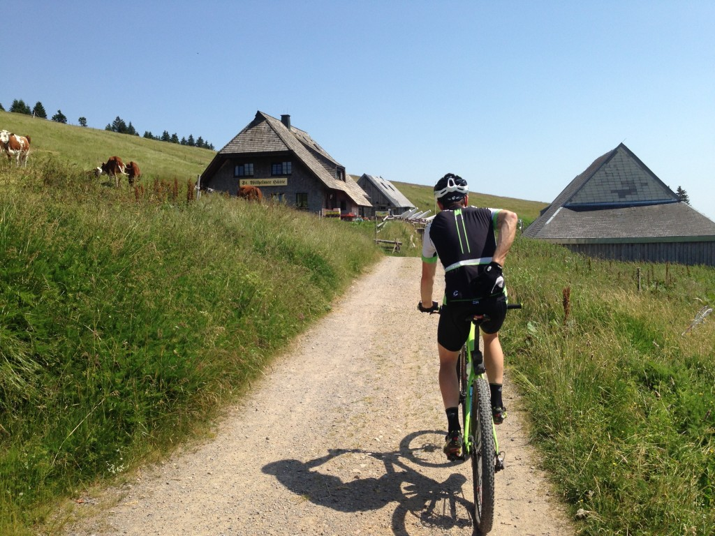 The trip to Europe was mainly spent riding around Jon's home in Freiburg, Germany. Here we were climbing up to the highest point around on gravel roads. We rode mountain bikes that day to prepare for a marathon mtb race in Austria that following weekend.