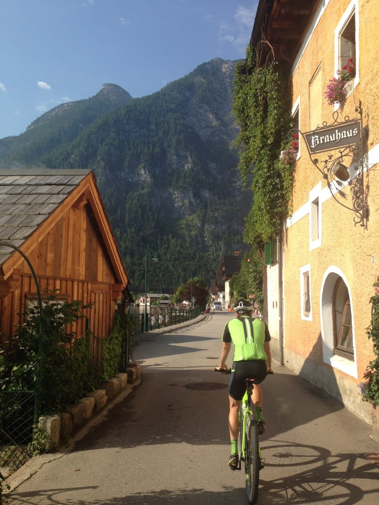 The race (Salzkammergut Trophy) was truly amazing. Here, the day after, we did an easy recovery ride around the lake. Small villages dotted the coastline, hemmed in by the Alps.