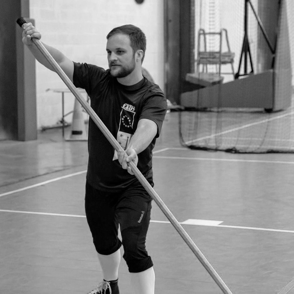 William Buschur  is the lead polearms instructor, focusing on the individual use of staff, spear, halberd, and pike. William is a Maryland attorney.