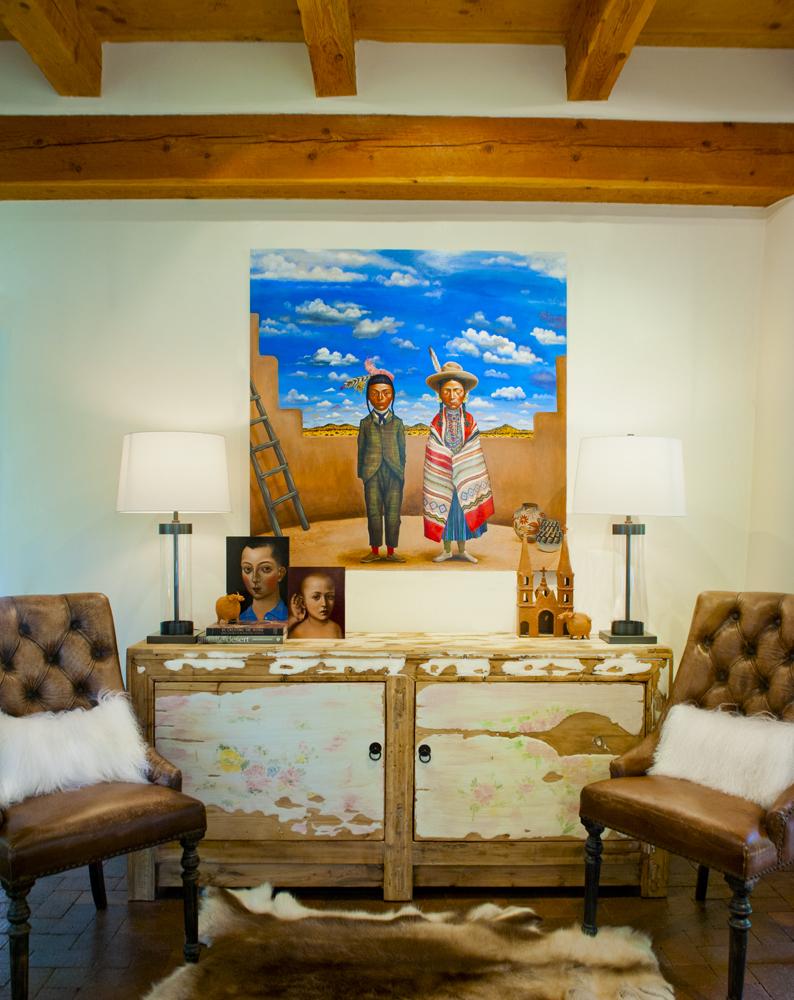 Interior design, interior styling, decoration, Santa fe