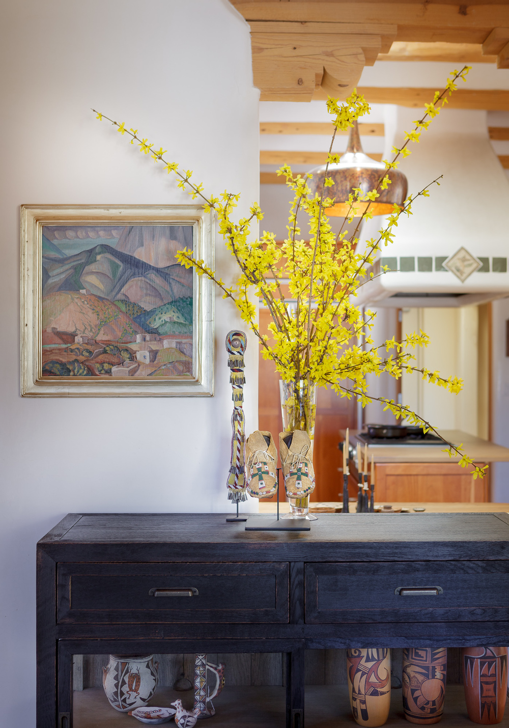 Santa Fe interior design, Taos decoration, indian art, New Mexico Style