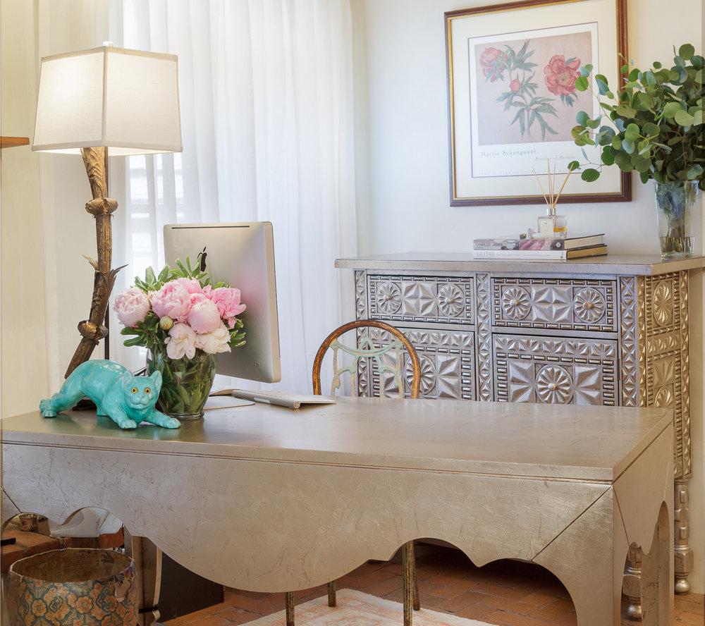 Silver leaf Moroccan Furniture