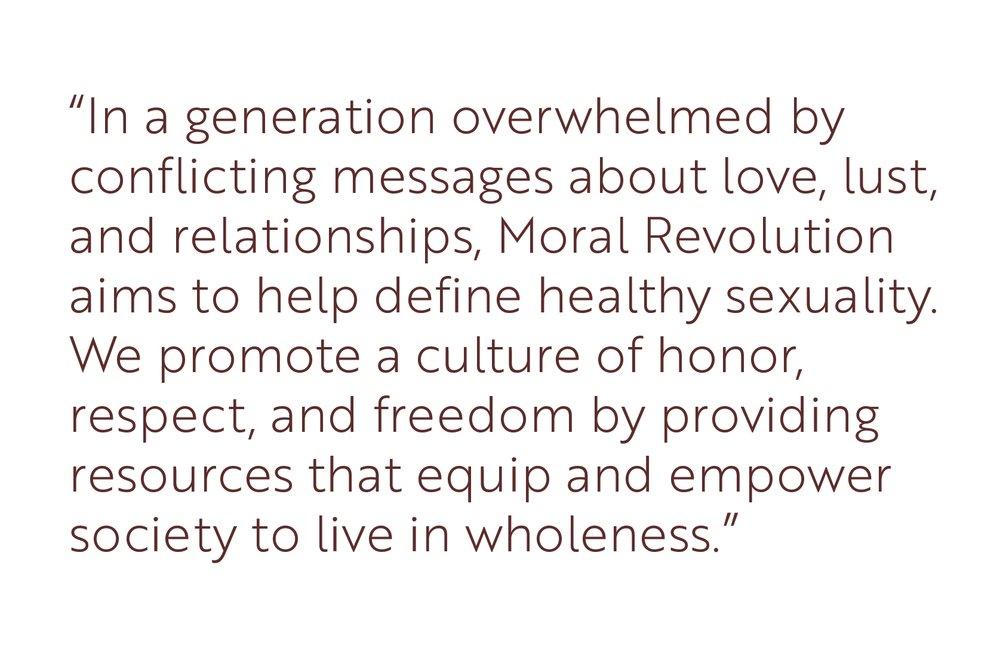 MORAL REVOLUTION - FROM BETHEL REDDING