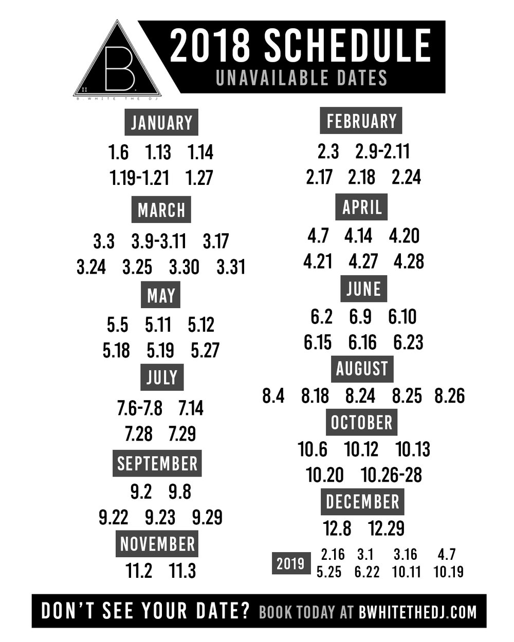 BWhite The DJ 2018 Schedule.jpg