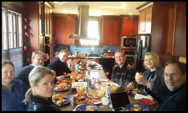 MVSC Board of Directors enjoying a sunday meeting & Brunch
