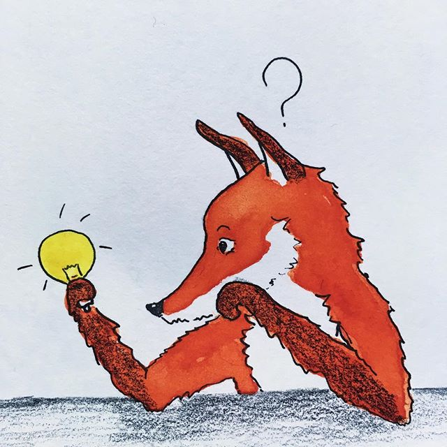 Gah! So rusty! Put my pencils down for too long. Last weeks have been consumed by short business course - lots of time spent questioning ideas. More time needed with pencils. ---------------------------------- #fox #pencil #paper #inking #ink #redfox #nature #paws #lightbulb #business #smallbusiness #designermaker #ideas #illustration #illustrator #studio #portobello #questions #watercolour #huff #line #kidlitart #wip #lifeprogress #foxes #story