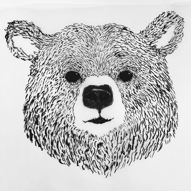 Inktober day 1 🐻 - my commitment to inktober day 2 is yet to be decided.... Lots on at the moment, brain capacity is maxed out. This one's to test out a possible animal face project.. ----------------- #🐻 #bear #wildlife #monochrome #blackandwhite #linedrawing #illustration #texture #ink #inktober #drawing #inking #grizzly #outdoors #paws #kidlitart #childrensbookillustration #wip #furry #hairy #illustrator #printmaking #nose #nature #faces