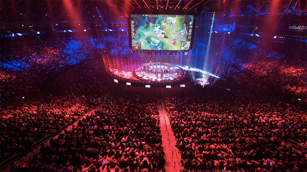 A video game tournament