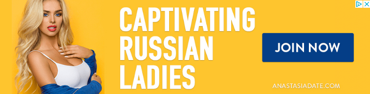 """A normal sight at websites partnered with Google AdSense. And I swear to you. I haven't Googled for """"captivating Russian ladies"""""""