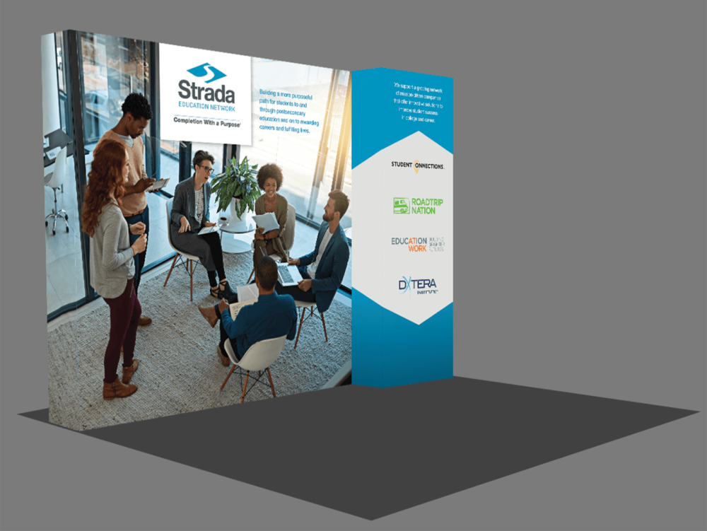 Exhibit booth design mockup