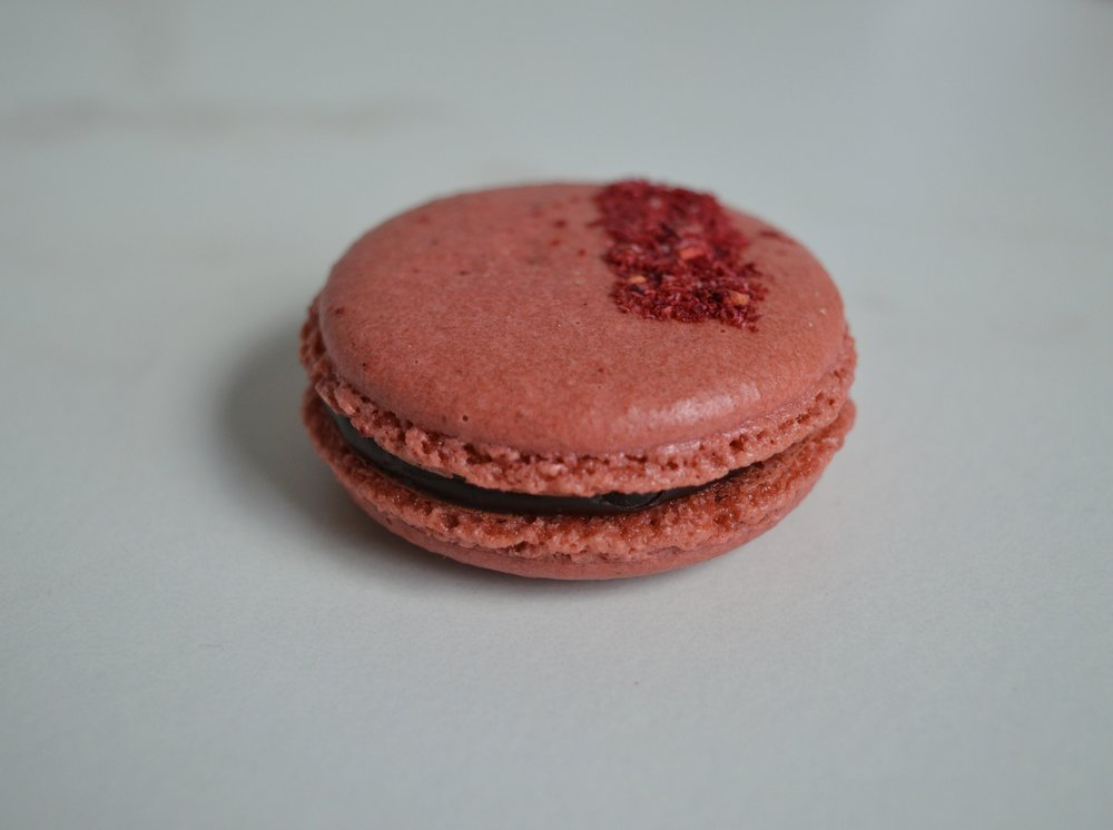 Chocolate Raspberry: Raspberry Chocolate Ganache.Dried Raspberry.