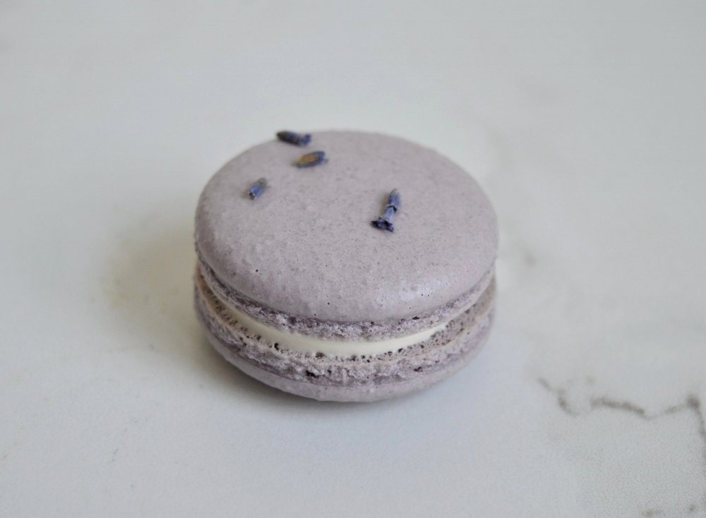 Lavender Honey: Lavender Honey Buttercream. Lavender Bud.