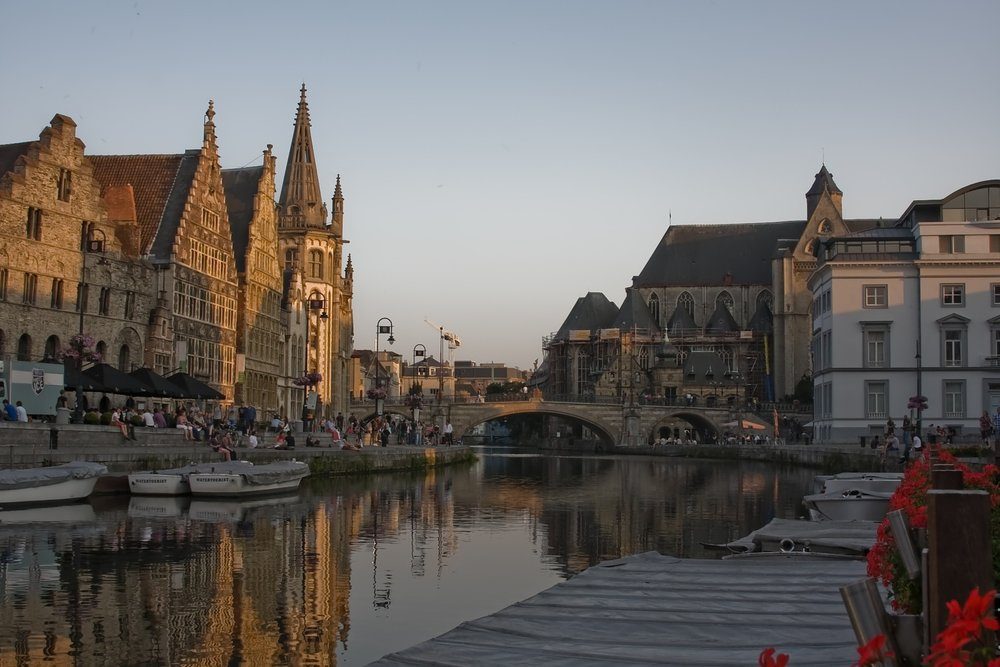 Ghent's waterways easily match those of local superstar, Bruges